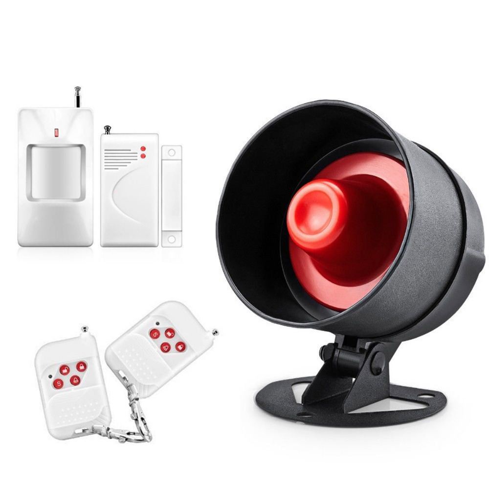 DANMINI Wireless Indoor Siren Alarm Horn Burglar Security Door And Window IR anti-theft Alarm PIR Door Sensor Alarm