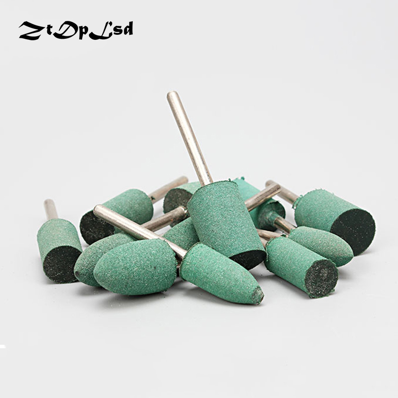 цена на ZtDpLsd 6Pcs 3mm Shank Assorted Special Rubber Mounted Point Grinding Head for Mould Finish Polish Dremel Grinder Rotary Tools