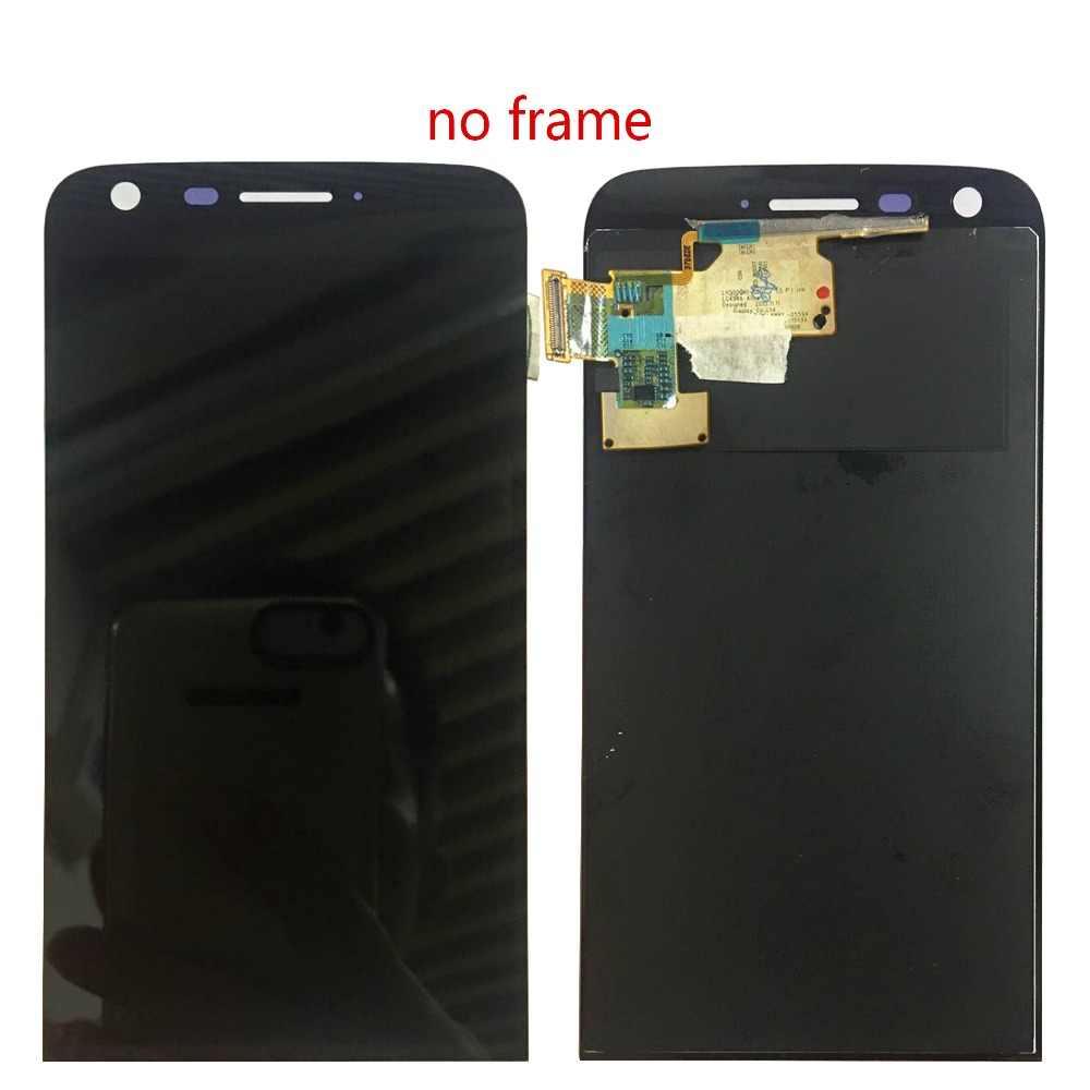 ل LG G5 شاشة إل سي دي باللمس شاشة زجاج محول الأرقام الجمعية مع الإطار H830 H840 H845 H850 H860 F700