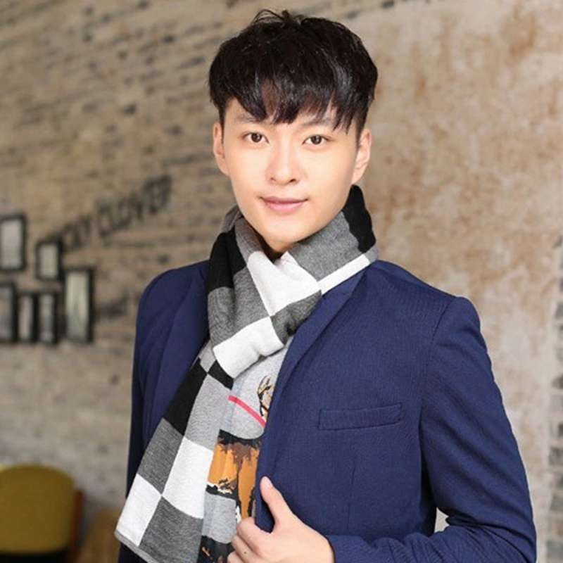 Fashion font b Tartan b font Scarf Men Spring Casual Cashmere Scarf Winter Scarf Luxury Brand