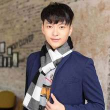 Fashion Tartan Scarf Men Spring Casual Cashmere Scarf Winter Scarf Luxury Brand Patchwork Echarpe YJWD622