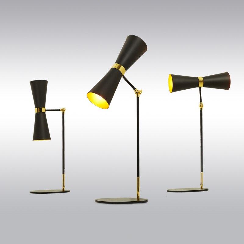 Промышленных Настольные лампы спальня ночники творческая личность простой американский ретро гостиная отель tabletoplu6281 zl88
