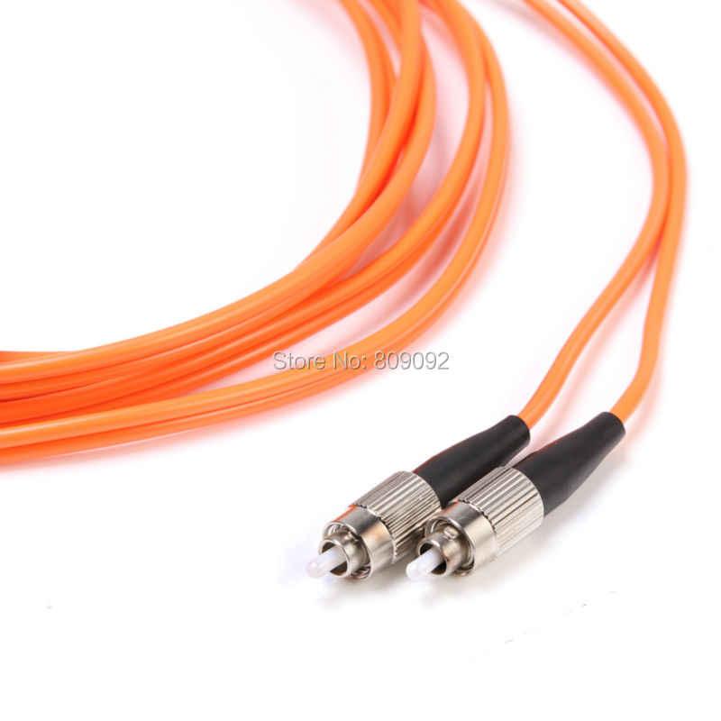 Hoge kwaliteit fc-fc duplex 62.5/125 multimode glasvezel optische jumper kabel orange jumper lood