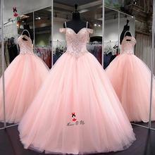 Женское бальное платье длиной до пола vestido de 15 anos розовое