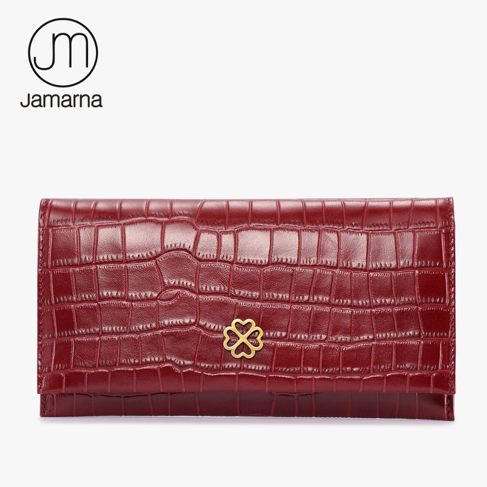 Jamarna Crocodile Leather Women Wallets Long Clutch Female Purse Credit Card Coin Phone Holder Brand Wallet Free Shipping Red baellerry women wallets business fashion leather long women purse credit card holder coin purses solid lady clutch free shipping