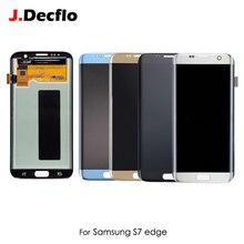 """Asli Super AMOLED OLED untuk Samsung Galaxy S7 Edge G935F G935A Layar Sentuh Display LCD Digitizer 5.5 """"Perakitan Pengganti"""