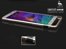 Примечание 4 Рапира Серия Роскошный Алюминиевый Бампер Металла Для Samsung Galaxy Note 4 N9100 Case Призматические Форма Рамы Металлические Кнопки крышка