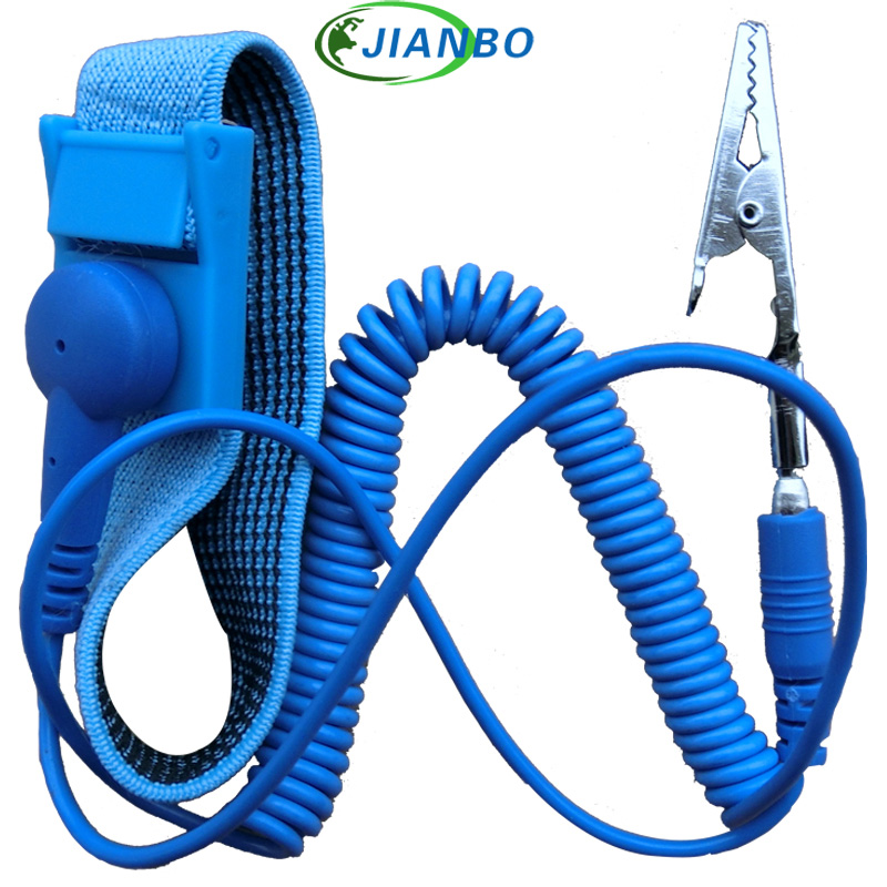New Anti Static Antistatic Esd Cordless Wrist Strap Band Blue Free Shipping Volume Large Power Tool Accessories