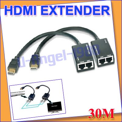 HDMI EXTENDER 30M 1080P Cat5e cat6 Lan cable 3D 1080p+free shipping