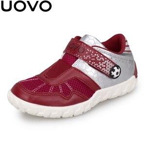 Image 2 - UOVO 2020 Neue Ankünfte Marke Kinder Schuhe Sommer Herbst Jungen Turnschuhe Atmungsaktive Licht Gewicht kinder Schule Schuhe Racing stil