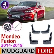 for Ford Mondeo Fusion MK5 2014~2019 CD391 Fender Mudguard Mud Flaps Guard Splash Flap Mudguards Accessories 2015 2016 2017 2018