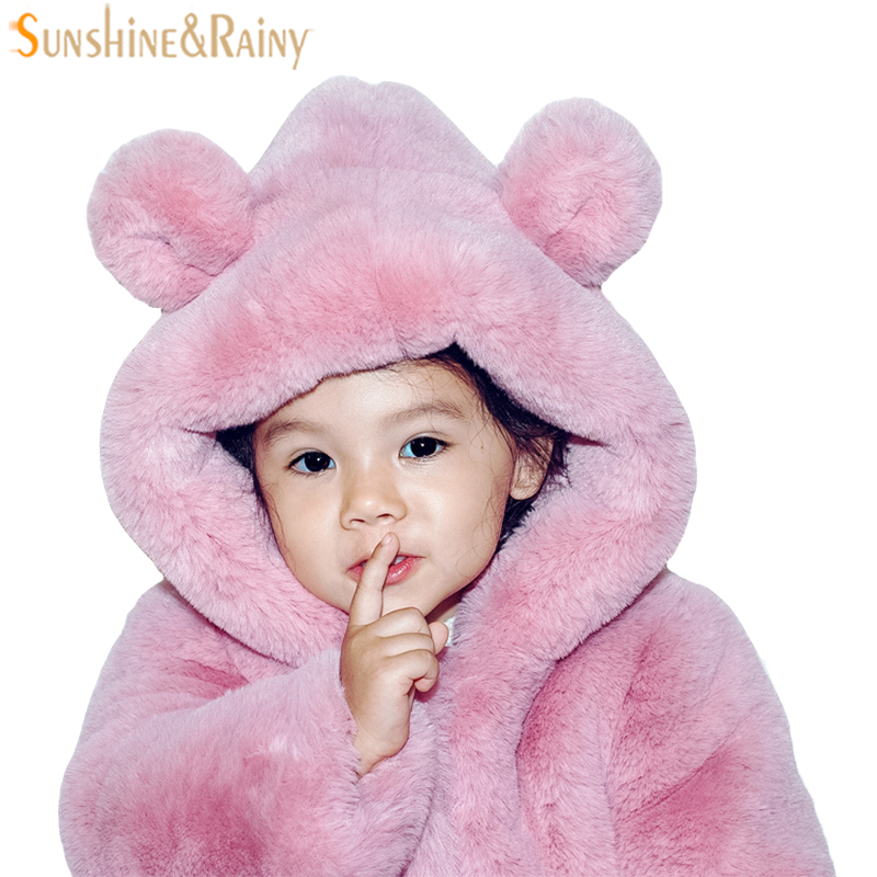 Children Outerwear & Coats For Girls Faux Fur Jackets Girls Snowsuit Kids Parka Boys Winter Coat Warm Toddlers Baby Hooded Coat winter fashion kids girls raccoon fur coat baby fur coats