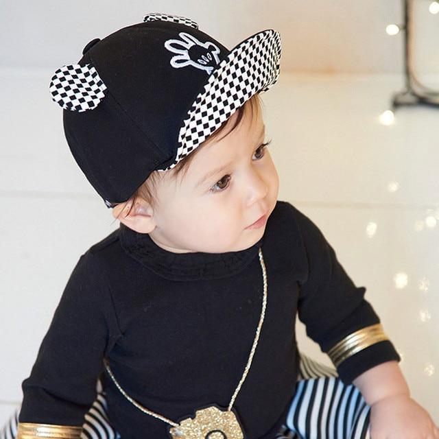 2ff3726ad7e5 Été bébé chapeaux de soleil bord doux Baseball béret mignon bébé Cap souris  oreilles Bonnet de