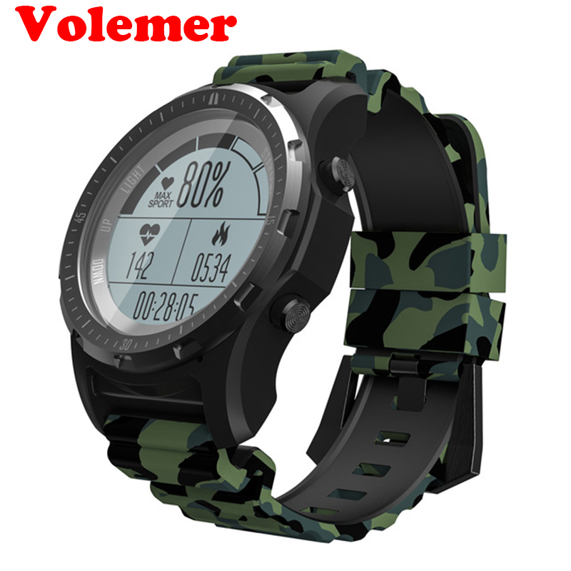 Volemer GPS Outdoor Smart Watch S966 Heart Rate Monitor Multi-sport Compass Cycling Sport Watch Altitude Temperature Wristwatch цена