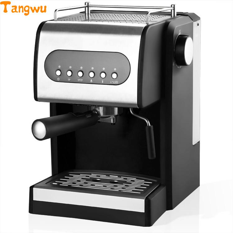 Free shipping Electronic high pressure steam foam for commercial   / household semi-automatic coffee machine Coffee machine household italian semi automatic pump coffee machine pressure steam cappuccino coffee maker coffee pot cm 4656