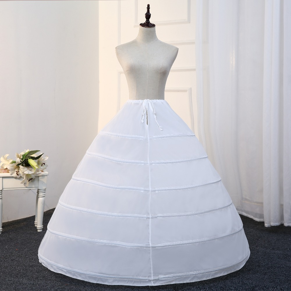 Free Shipping 6 Hoops Petticoats for Wedding Dress Ball Gowns ...