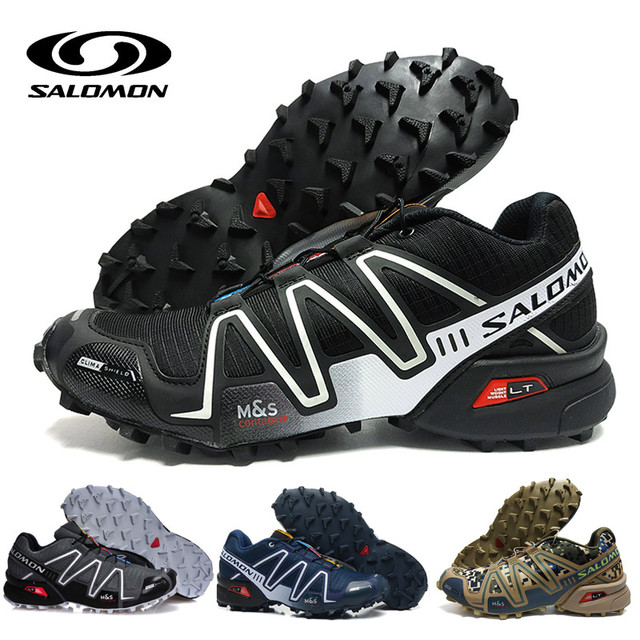 8a48bbf6ee0 Salomon Speed Cross 3 CS III Shoes Men zapatos hombre Camo Black Red Running  Shoes Cushion Atheltic Sport Shoes eur 40-46
