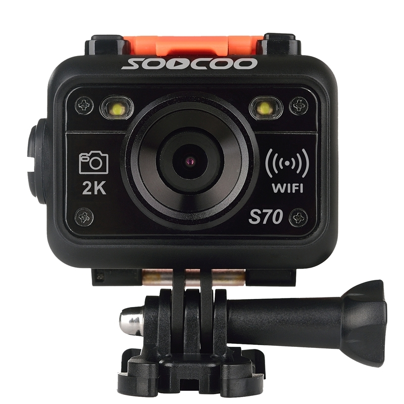 SOOCOO S70 World Debut 2K@30fps 1080FHD@60fps 60m Waterproof WiFi Sports Action Camera with Watch Remote Control earth 2 world s end vol 2