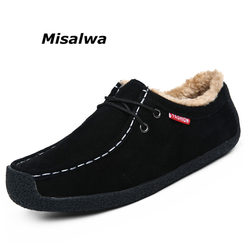 Daim Mocassin Mocassins Douce Hiver Dropshipping Misalwa Chaud Cuir Wwz6qPfT1z