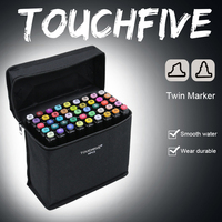 Touchfive 80 Color Art Markers Double Head Alcohol Based Brush Pen Material Drawing Pen For School
