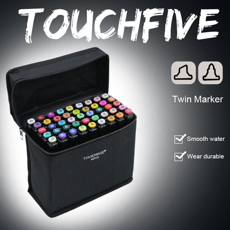 Touchfive 80 Color Art Markers Double Head Alcohol Based Brush Pen Material Drawing Pen For School Art Supplies Stationery