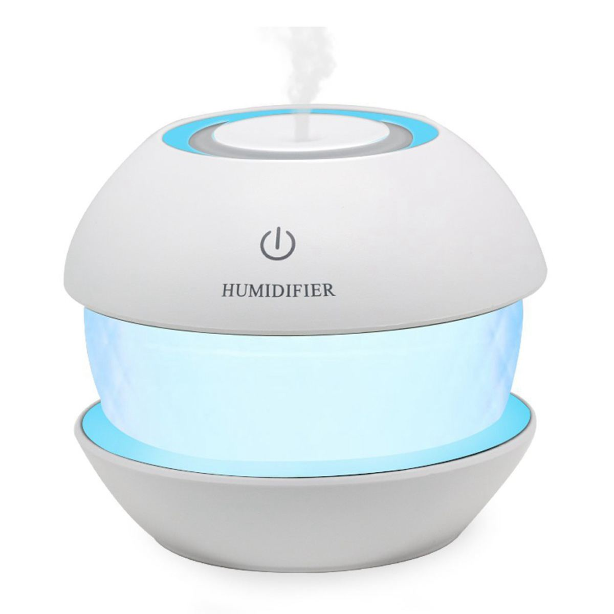 Ultrasonic Cool Mist Humidifiers Diffuser - Air Humidifier For Car, Office, Spa, Yoga, 150ml Round Spray USB Humidifier With L купить в Москве 2019