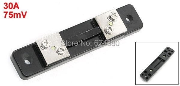 1 упаковка (10 шт./лот), резистор шунтирования переменного тока для панели, Аналоговый амперметр, цифровой измеритель амперметра, 30 А, 75 мВ, 1 уп...
