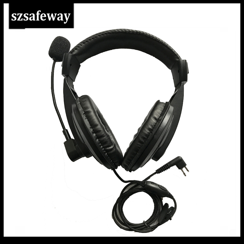 Two Way Radio Headset With Vox PPT Push To Talk And Swivel Boom Mic For Motorola CP040, CP200,GP300,GP88 Etc