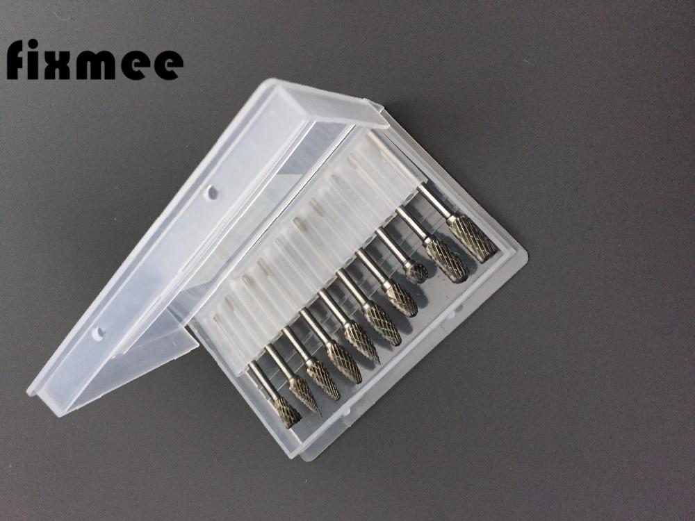 Fixmee 10PCS 3mm stopka wolframové oceli karbidové rotační - Vrták - Fotografie 3
