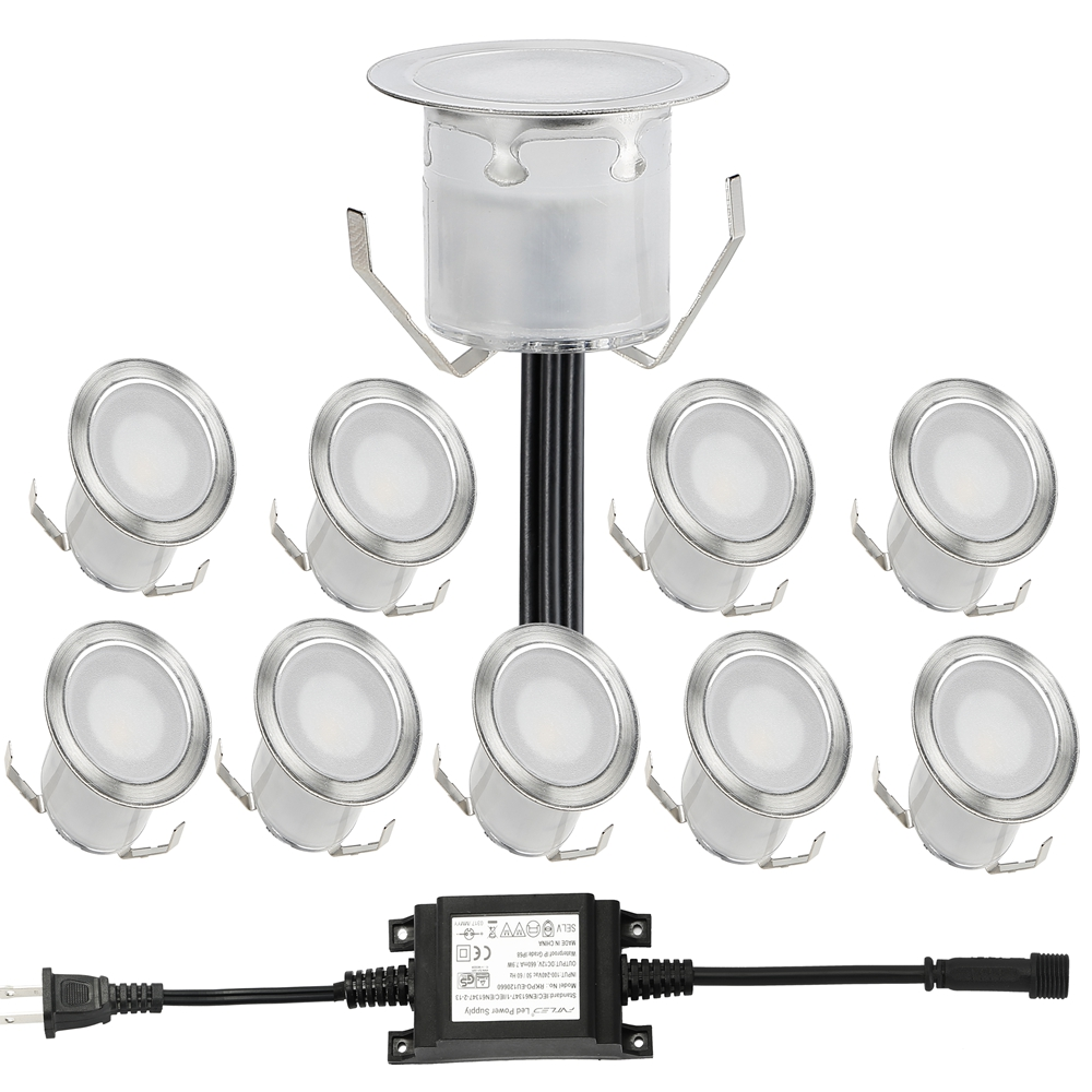10pcs lot 30mm Width Outdoor Garden Lighting IP67 0 6W LED Deck Light LED Underground Lamps