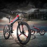 2018New 36V * 350W Electric Bike Mountain Hybrid Electric Bikes Waterproof Frames Inside Lithium on 10.8Ah Battery Folding Motor