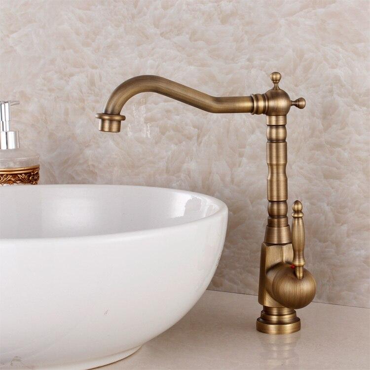 Mode bronze robinet antique cuisine mélangeur bassin mélangeur vintage évier robinet légumes bassin évier mélangeur
