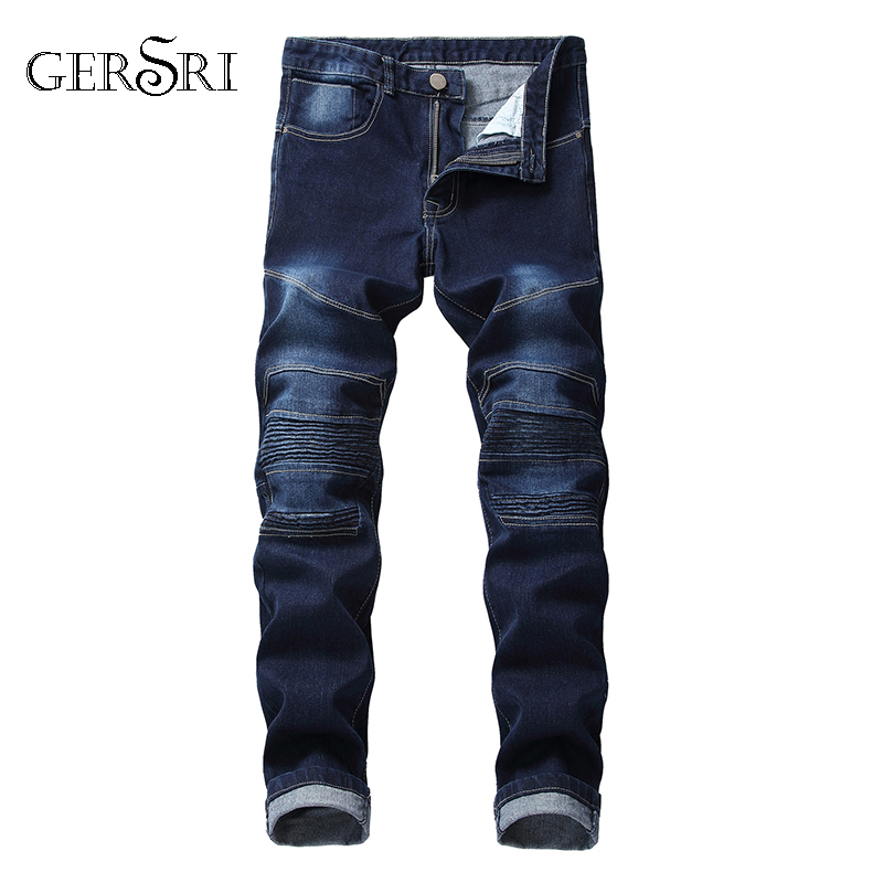 Gersri New Ripped Jeans For Men Cotton And Denim New Fashion Jeans Men High Quality Cool Student Male Jeans Pants Big Size