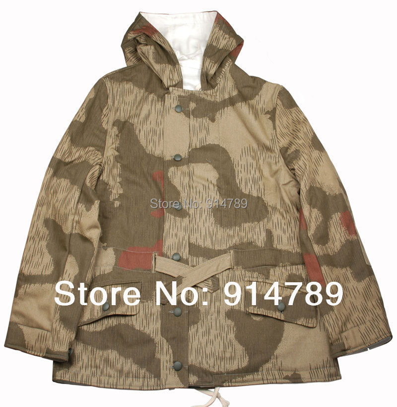Reversible snow camo parka