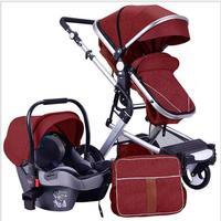 2019 новая детская коляска 2 в 1 коляска с высокой ландшафтной коляской с сумкой для мамы