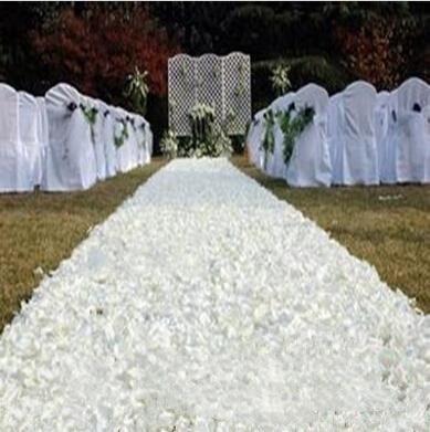 10m / lot 1,4 m Širina romantično bela 3D vrtnica cvetlični tepih - Prazniki in zabave