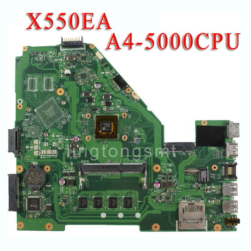 Original for ASUS X550E X550EA X552E X552EA motherboard X550EP Mainboard A4-5000 Processor 2G memory on board test ok for asus x751ma motherboard x751md rev2 0 mainboard processor n3530u 2g memory on board fully tested