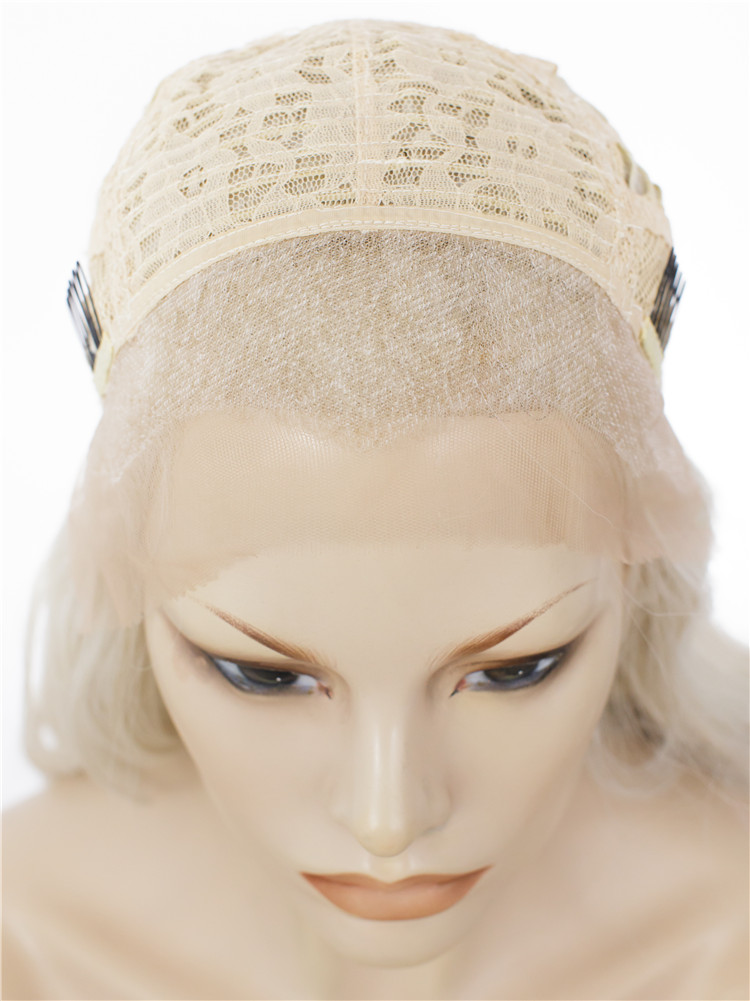 Ash Blonde Synthetic Heat Resistant Wig For Women