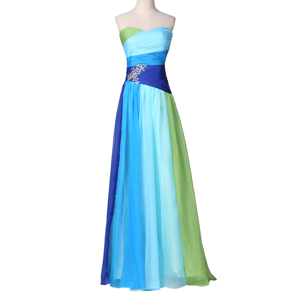 Rainbow Prom Dress Grace Karin Rainbow Plus Size Prom Dresses 2017