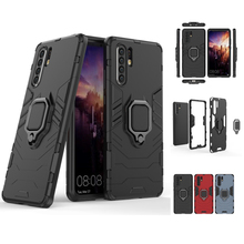 For Huawei P30 Pro Lite Shockproof Armor Case Kickstand Silicon Phone With Finger Ring Cover Funda