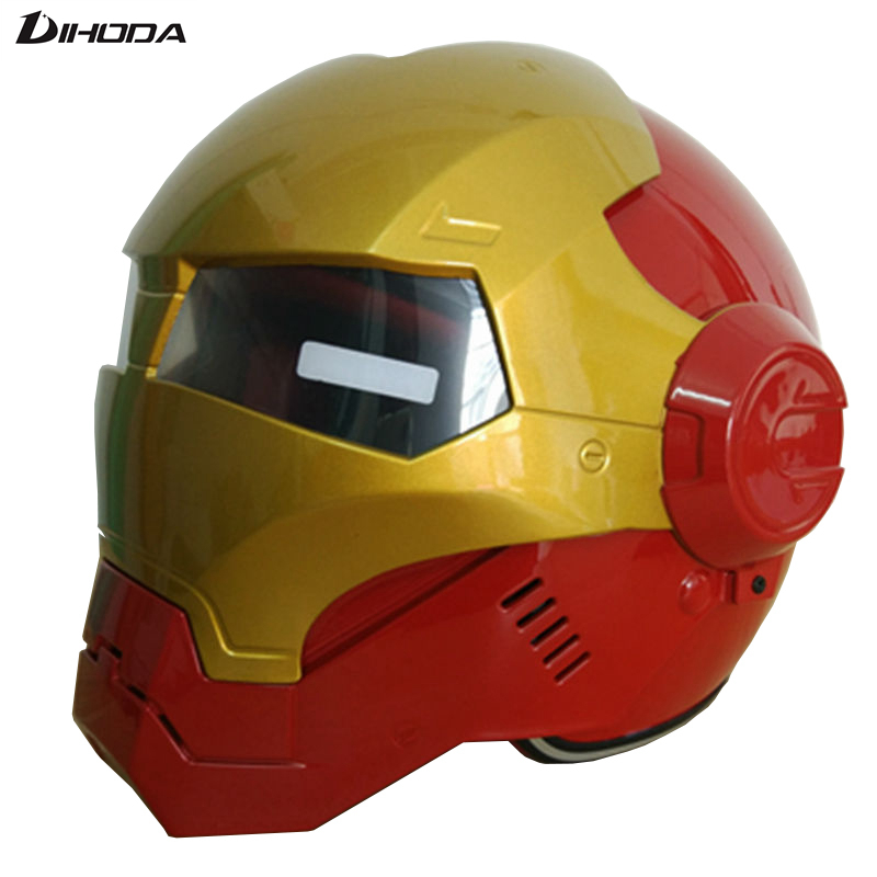 2016 Masei Red & Gold Mens womens IRONMAN Iron Man helmet motorcycle helmet half helmet open face helmet ABS casque motocross free shipping top abs moto biker helmet ktm masei iron man special fashion half open face motocross helmet frieza