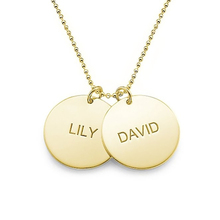 Unique Round Choker Jewelry Gold Plated Two Name Pendant Necklace Custom Bithstone Personalize Double Collares 2016 New
