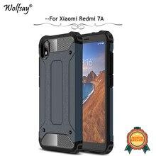 For Xiaomi Redmi 7A Case Shockproof Armor Rubber Hard PC Phone Bumper Back Cover Fundas