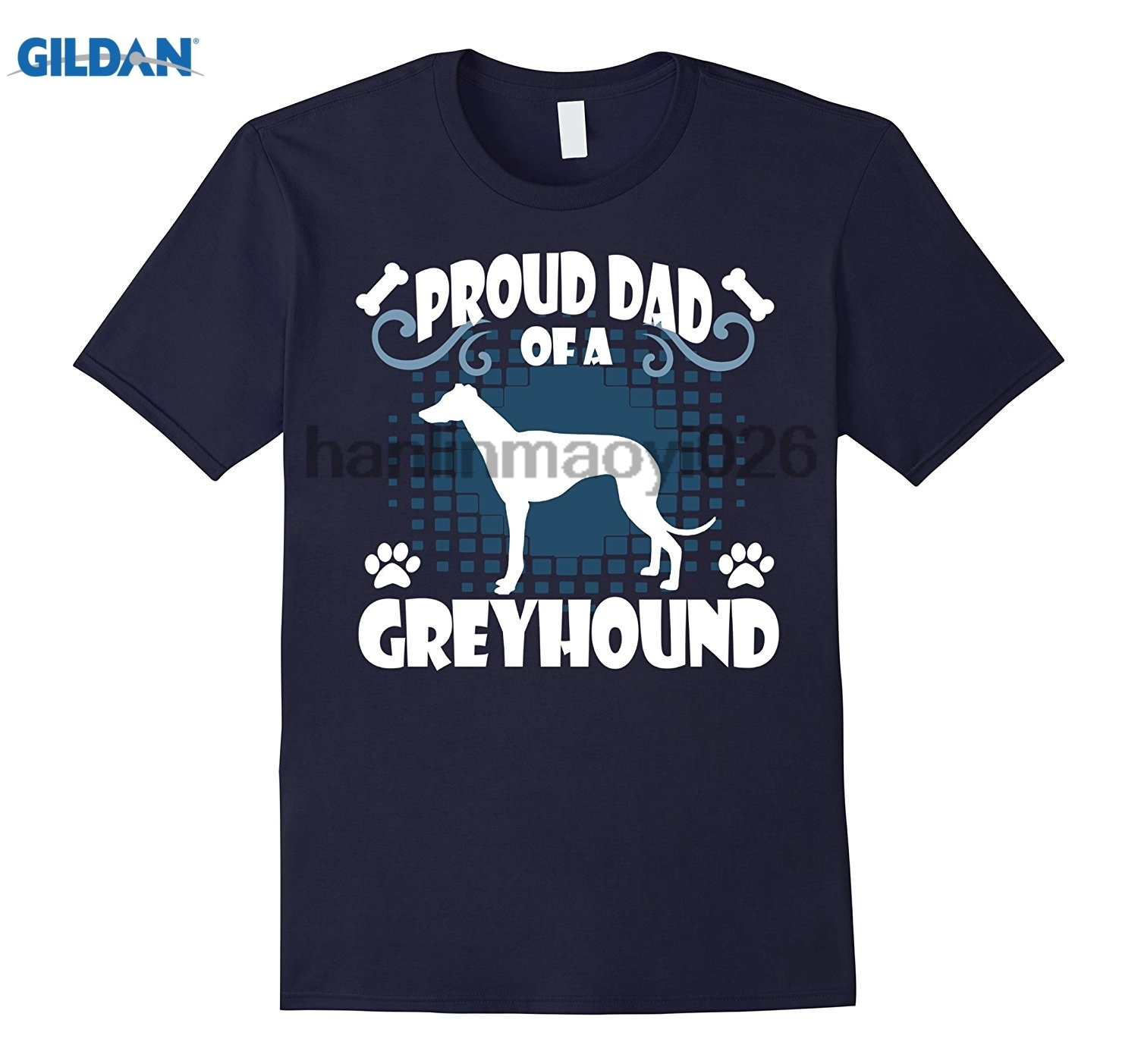 GILDAN Proud Dad Of A Greyhound Shirt Dog DAD Shirt Fur Dad Tee