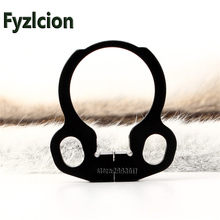 Fyzlcion Hunting Tactical Black Loop End Plate Sling Swivel Adapter for 4 or 6 Position Stock AR15 M4 Rifle Free Shipping