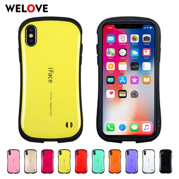 For iphone XS Max cace iFace Class Smooth Glossy Lanyard hole PC TPU silicone Cute Back Cover Cases for iphone XR X 8 7 6S Plus