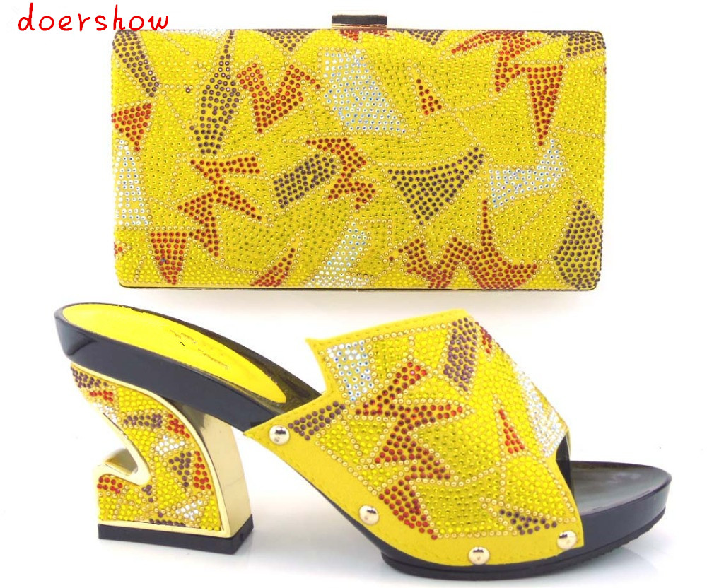 beautiful doershow African shoe with matching bag for evening party for low heel sandal with handbag