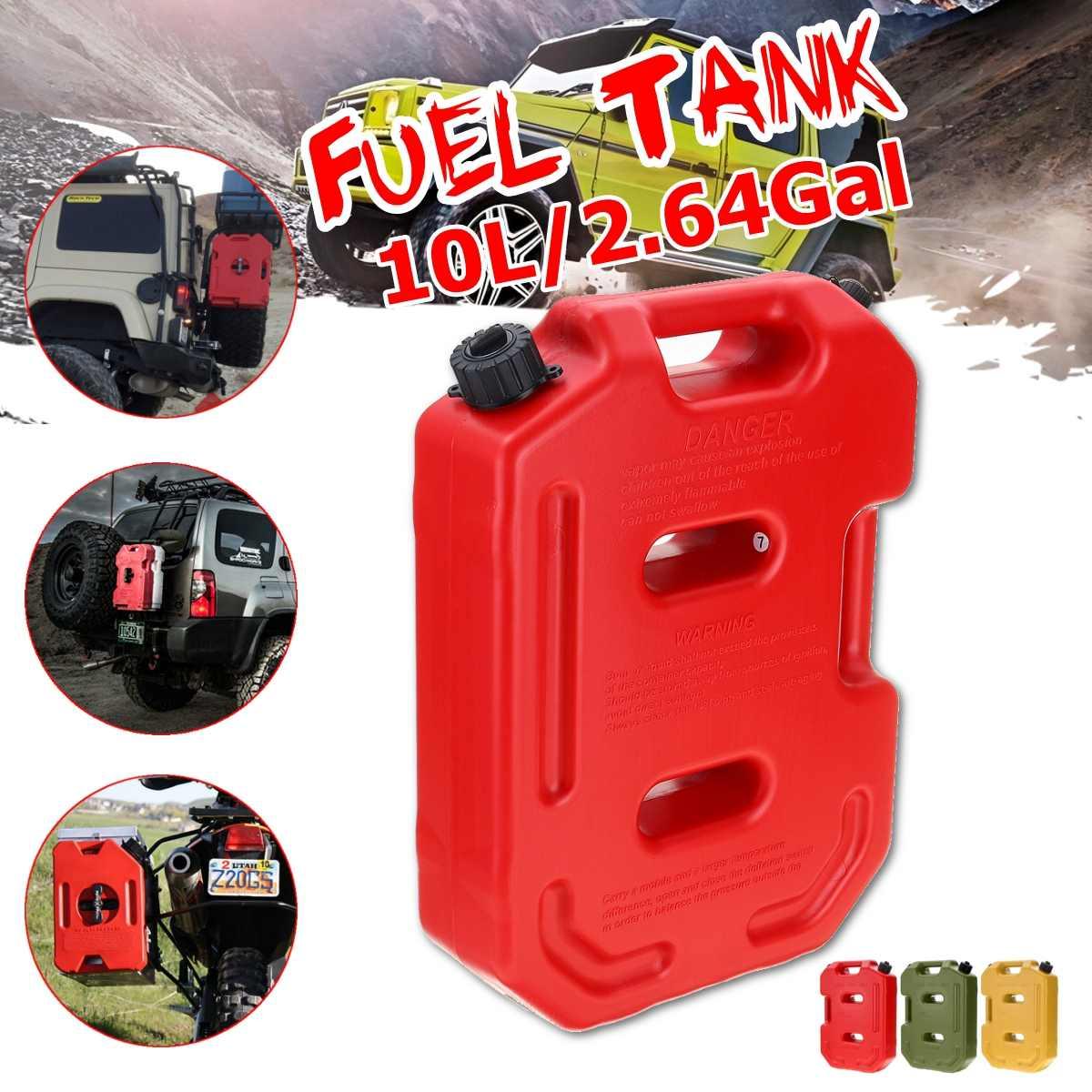 10L bidon de gaz réservoir de carburant jerrycans rouge jaune vert en plastique gaz Diesel essence huile conteneurs essence voiture de montage moto