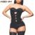 HEXIN Clip y de Látex Con Cremallera Cintura Trainer Negro, desnuda de Cintura Mujeres Hot Body Shapers Cintura Corsés Slimming Entrenador Shapwear