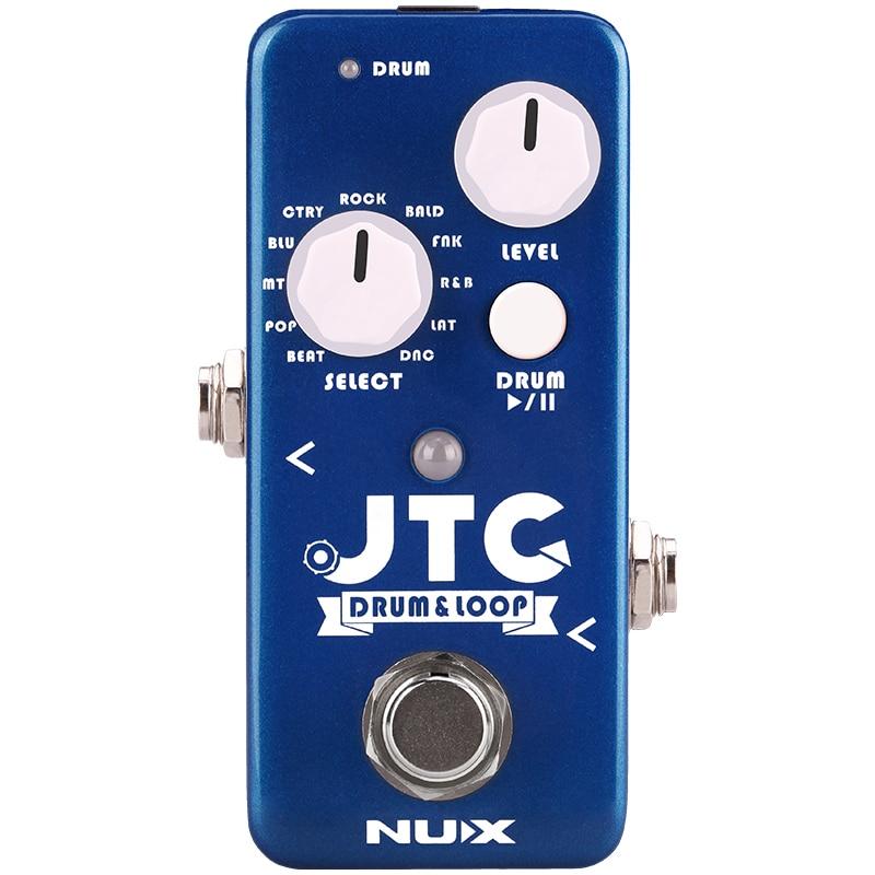 NUX JTC batterie & boucle effets de guitare pédale Station de bouclage 6 Minutes temps d'enregistrement 11 modèles de batterie overdubs illimités
